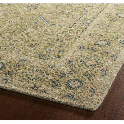 Erin Green Oriental Wool Hand-Tufted Area Rug