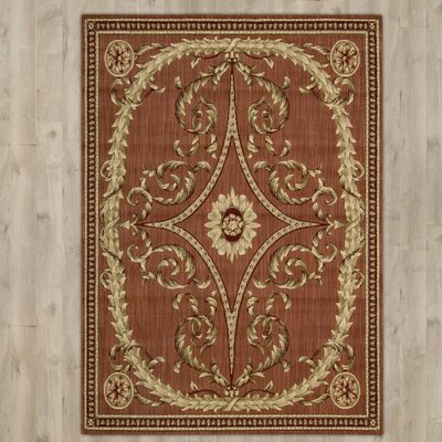 Greystoke Wool Red/Beige Area Rug Rug Size: Rectangle 96 x 136