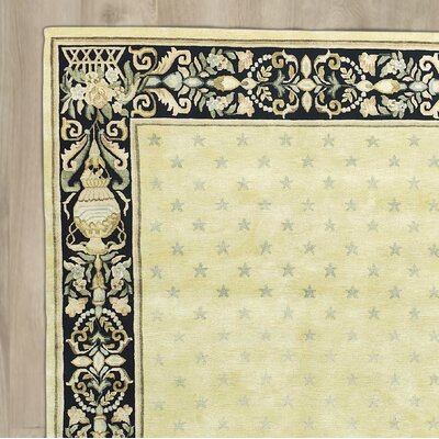 St. Regis Hand-Knotted Yellow/Black Area Rug