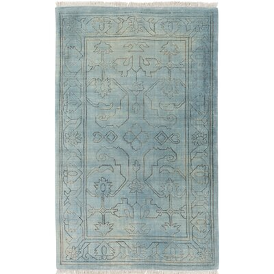 Astoria Grand Singita Hand-Woven Blue Area Rug
