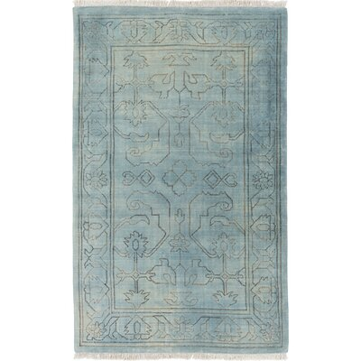 Singita Hand-Woven Blue Area Rug Rug Size: Rectangle 4 x 6