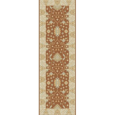 Raffles Hand Tufted Brown/Beige Area Rug Rug Size: Runner 26 x 8