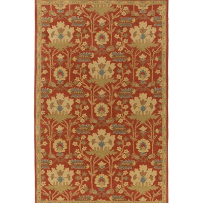 Kempinski Hand-Tufted Red/Beige Area Rug Rug Size: Rectangle 4 x 6