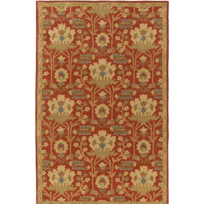 Kempinski Hand-Tufted Red/Beige Area Rug Rug Size: Rectangle 5 x 8