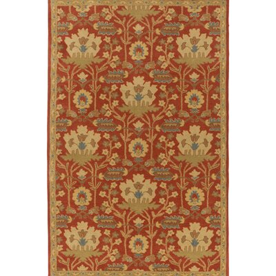 Kempinski Hand-Tufted Red/Beige Area Rug Rug Size: Rectangle 12 x 15