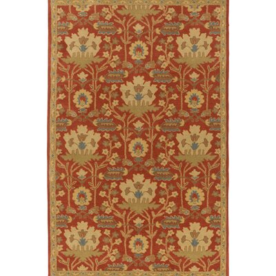 Kathie Hand-Tufted Red/Beige Area Rug