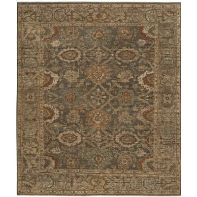 Hand-Knotted Gray/Beige Area Rug Rug Size: 9' x 12'