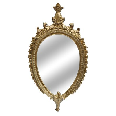 Oval Gold Traditional Framed Mirror