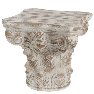 Ayward End Table Color: Stone White