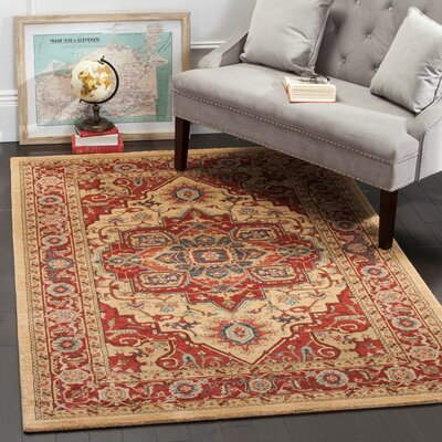 Clarion Red Area Rug Rug Size: Rectangle 8 x 10