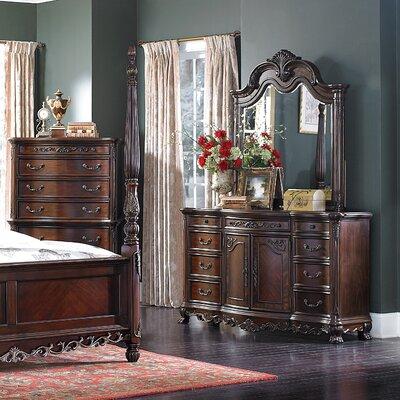 Chalus 9 Drawer Dresser with Mirror