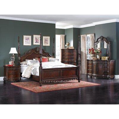 Chalus Queen Four Poster Customizable Bedroom Set
