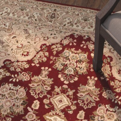 OConnell Hand-Woven Red/Beige Area Rug