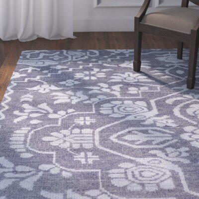 LErmitage Hand-Knotted Blue Area Rug Rug Size: 8 x 10