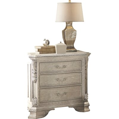 Schwerin 3 Drawer Nightstand