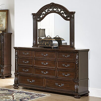 Augustine Court 11 Drawer Dresser with Mirror