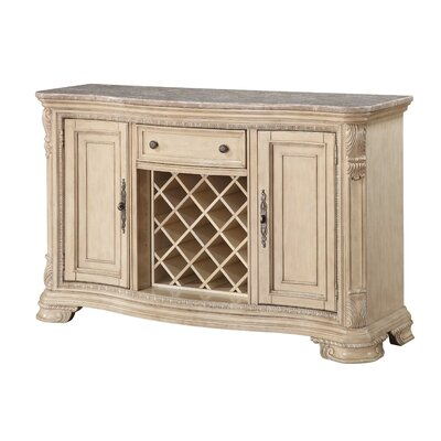 Fergus Kitchen Island with Marble Top