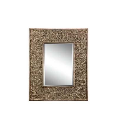 Rectangle Medium Brown  Wall Mirror