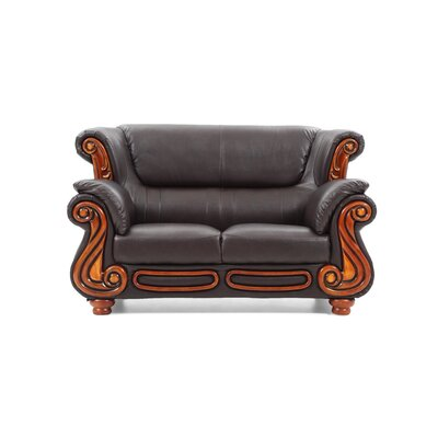 Baisden Loveseat Upholstery: Brown