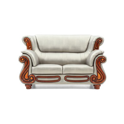 Baisden Loveseat Upholstery: Antique Silver