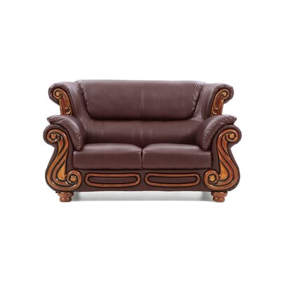 Baisden Loveseat Upholstery: Textured Brown
