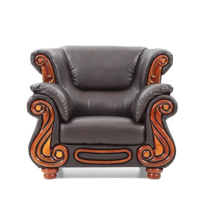 Baisden Club Chair Color: Brown