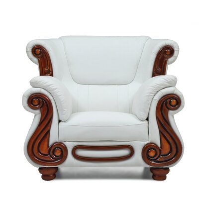 Baisden Club Chair Color: White