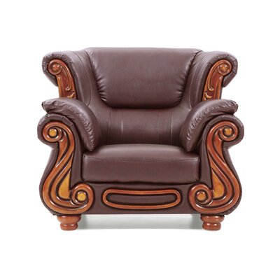Baisden Club Chair Upholstery: Textured Brown