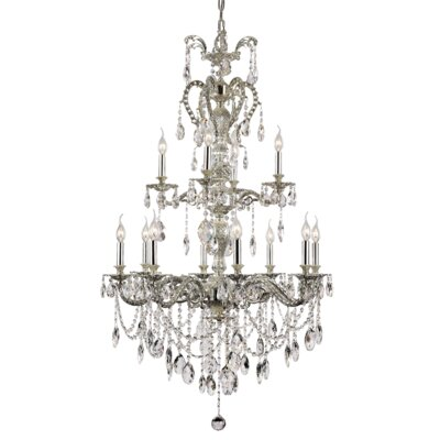 Barnell 12-Light Crystal Chandelier