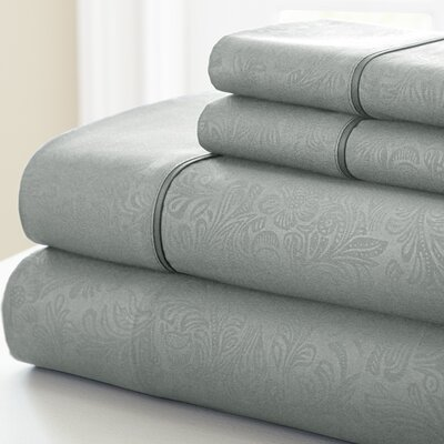 Adamson 4 Piece Sheet Set Size: California King, Color: Platinum