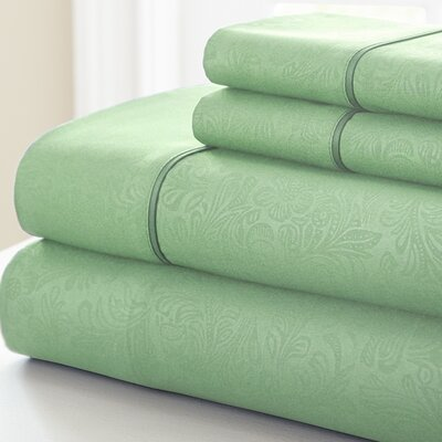 Adamson 4 Piece Sheet Set Size: Full, Color: Sage