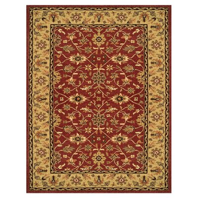 Barns Red/Light Gold Area Rug