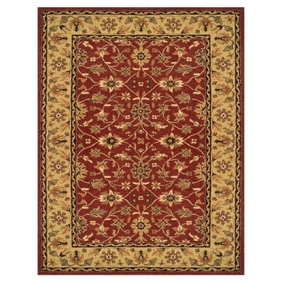 Barns Red/Light Gold Area Rug Rug Size: 5 x 8