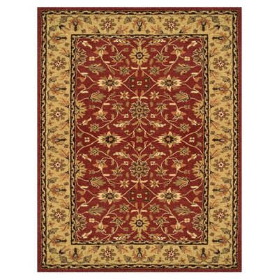 Barns Red/Light Gold Area Rug Rug Size: 8 x 11