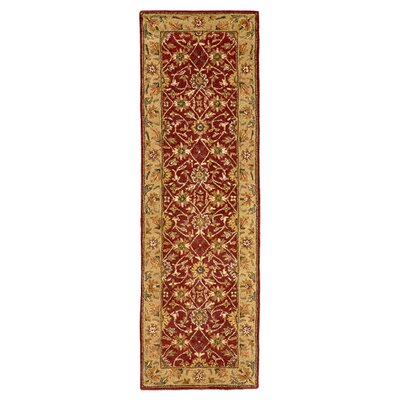 Barns Red/Light Gold Area Rug Rug Size: Runner 26 x 8
