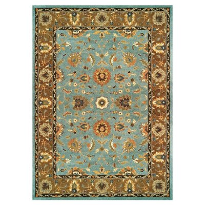 Barns Light Blue/Brown Area Rug Rug Size: 36 x 56