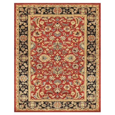 Bavis Red/Black Area Rug Rug Size: 5 x 8