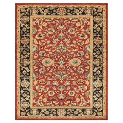 Bavis Red/Black Area Rug Rug Size: 8 x 11