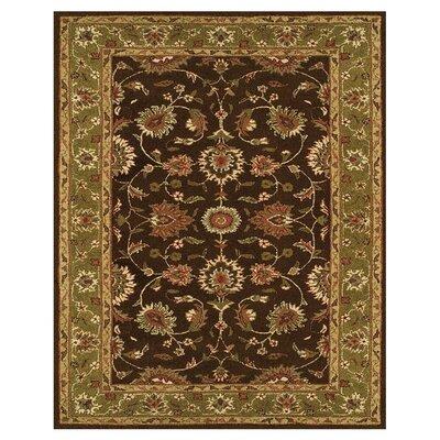 Barns Dark Brown/Green Area Rug Rug Size: 96 x 136