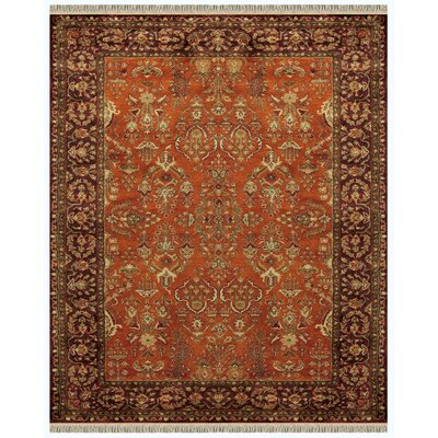 Barcroft Cinnamon/Plum Area Rug Rug Size: Rectangle 5' x 8'