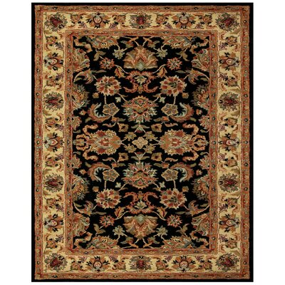 Baskett Black/Brown Area Rug Rug Size: Rectangle 36 x 56
