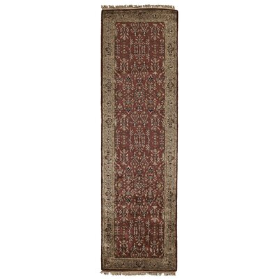 Barcroft Red/Light Gold Area Rug Rug Size: Runner 23 x 8
