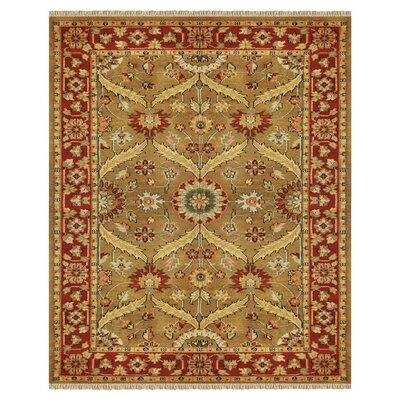Adelphia Red/Gold Area Rug Rug Size: Rectangle 4 x 6
