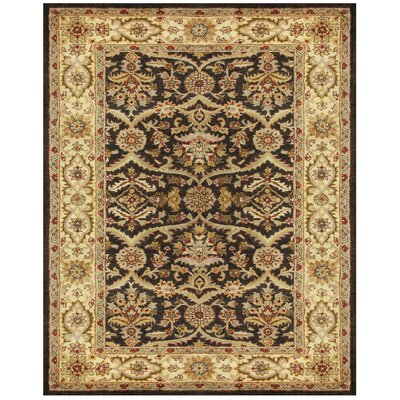 Bavis Brown Area Rug Rug Size: 9'6