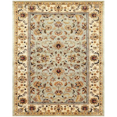 Bavis Celery/Ivory Area Rug Rug Size: Rectangle 9'6