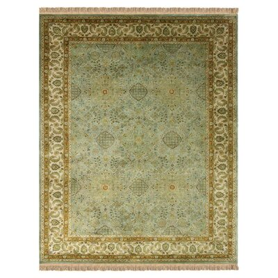 Barcroft Ocean/Beige Area Rug Rug Size: Rectangle 36 x 56