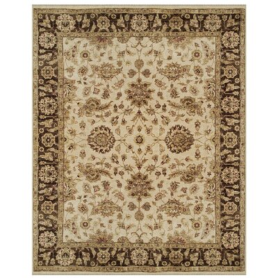Barley Ivory/Brown Area Rug Rug Size: 86 x 116
