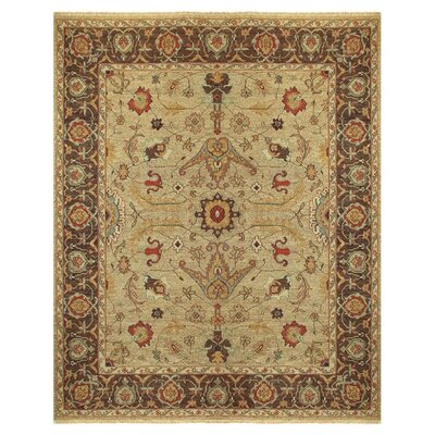 Barney Brown/Tan Floral Area Rug Rug Size: 3'6