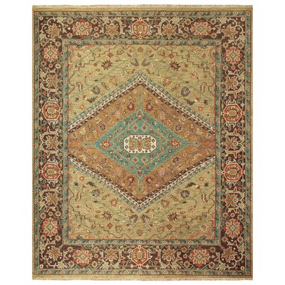 Barney Brown/Tan Floral Area Rug Rug Size: 56 x 86