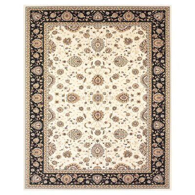 Barden Cream/Navy Area Rug Rug Size: Rectangle 5 x 8